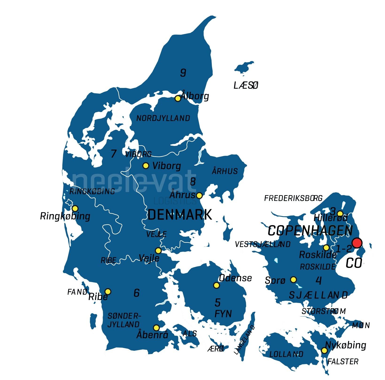 postcode Denemarken