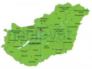 Postcodekaart Hongarije