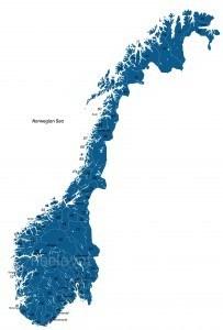 Postcodekaart Noorwegen