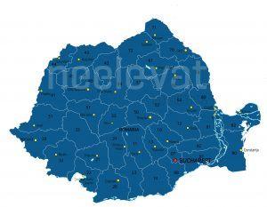 Postcodekaart Roemenië