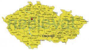 Postcodekaart Tjechië