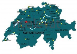 Postcodekaart Zwitserland